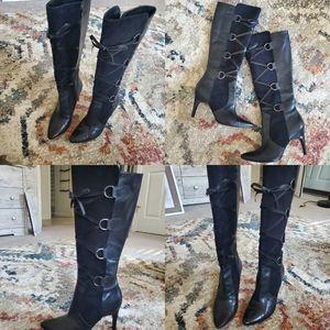 SALE 🚨 Via Spiga Leather knee high stilettos